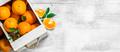 Ripe oranges in the box. - PhotoDune Item for Sale