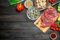 Healthy food. Raw beef meat with organic food assortment . - PhotoDune Item for Sale