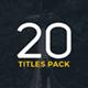 Minimal Titles | Premiere Pro