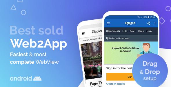 Web2App - najszybszy bogaty w funkcje Android Webview