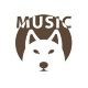 Bass Guitar Funky Logo