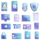 Personal Information Icons Set Cartoon Style - GraphicRiver Item for Sale