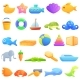 Bath Toys Icons Set Cartoon Style - GraphicRiver Item for Sale