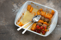 Lamb kebab with pumpkin on skewers on plate, copy space - PhotoDune Item for Sale