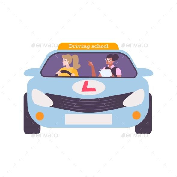 Driving School Illustration