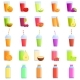 Fresh Juice Icons Set Cartoon Style - GraphicRiver Item for Sale