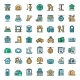Pets Hotel Icons Set Outline Style - GraphicRiver Item for Sale