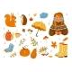 Autumn Cozy Vector Illustration Set - GraphicRiver Item for Sale