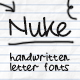 Nuke - Handwritten Letter Fonts - GraphicRiver Item for Sale
