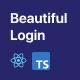 Beautiful Login 2 - Your ReactJS and Firebase login starter pack - CodeCanyon Item for Sale
