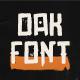 Oak Font - GraphicRiver Item for Sale