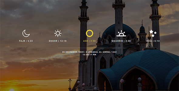 Salah Time, Fasting Time Calendar WordPress Plugin