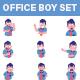 Office Boy Sticker Set - GraphicRiver Item for Sale