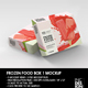 Thin Frozen Food Box Packaging Mockup - GraphicRiver Item for Sale