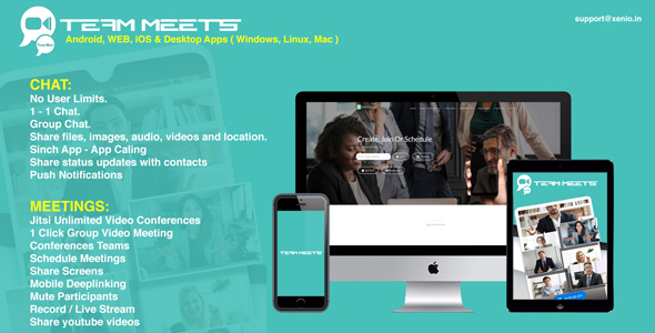 Download MeetsPro Android, iOS and Web –  Realtime Chat, Video Calls & Video Conferences Nulled