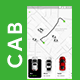 NEW Cab Booking App | User & Driver App UI Kit | CABIRA - GraphicRiver Item for Sale