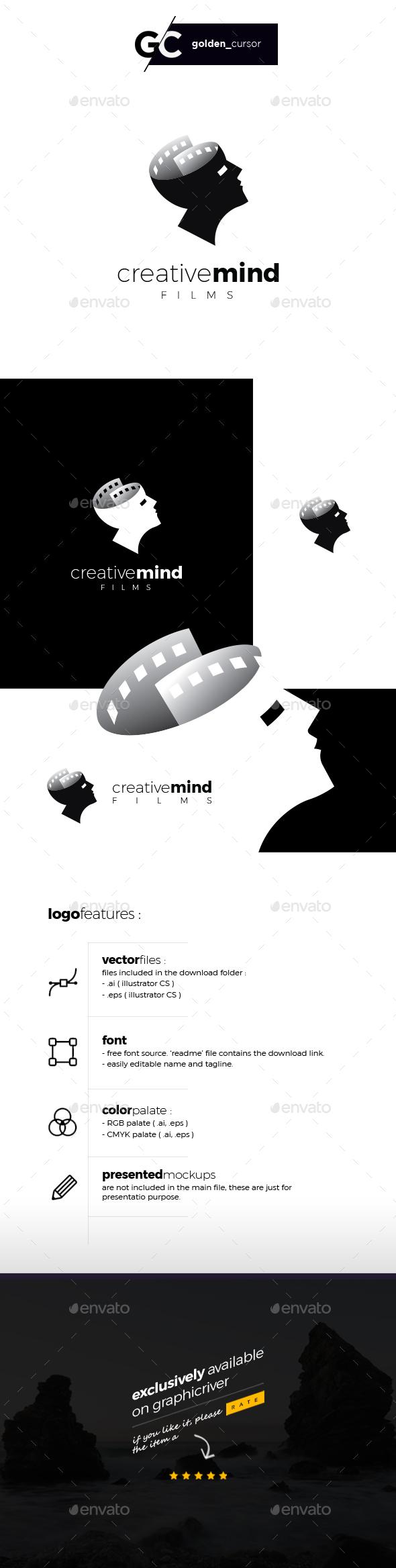 Creative mind films logo template