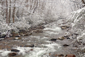 Spring Snow on a Mountain Stream - PhotoDune Item for Sale