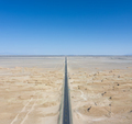 straight road through the wind erosion physiognomy in qinghai - PhotoDune Item for Sale