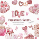 Valentine's Day Watercolor Clipart, Candy Hearts - GraphicRiver Item for Sale