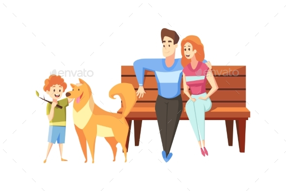 Fatherhood Motehrhood Childhood Rest Concept
