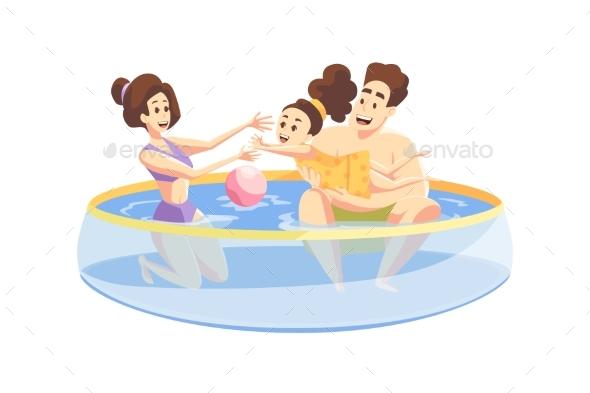 Fatherhood Motherhood Family Fun Concept