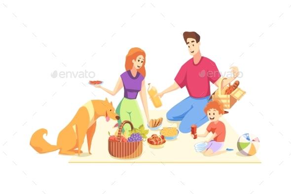 Rest Picnic Family Fatherhood Motherhood