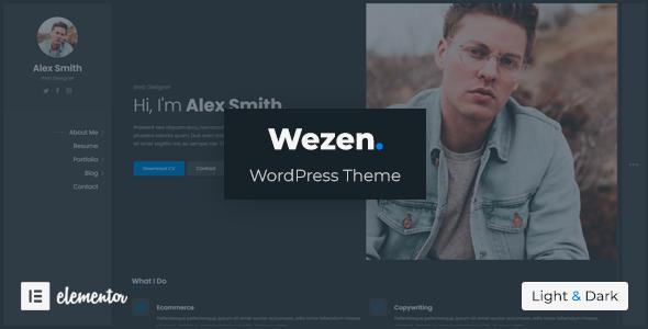 Wezen – CV/Resume Theme, Gobase64