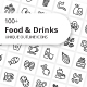 Food and Drinks Unique Outline Icons - GraphicRiver Item for Sale