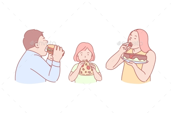 Fast Food Taste Obesity Calories Concept