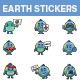 Earth Cartoon Sticker Set - GraphicRiver Item for Sale