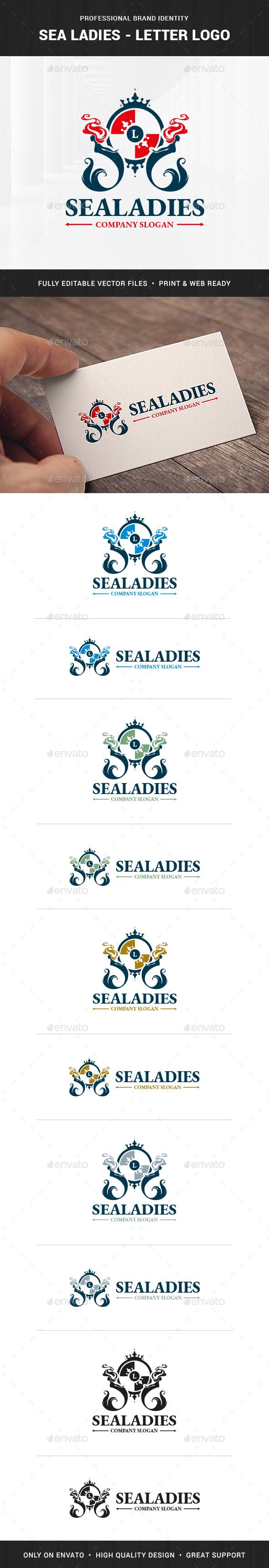 Sea Ladies - Letter Logo Template