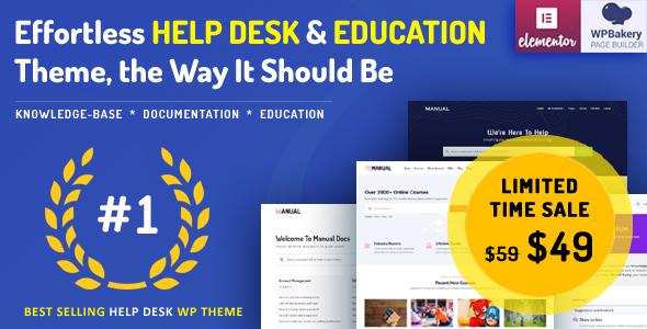 Manual – Documentation, Knowledge Base & Education WordPress Theme