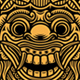 Traditional Balinese Mask Vector - GraphicRiver Item for Sale