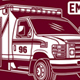 Ambulance Van Vector Graphic, Ambulance Van Graphic T-shirt - GraphicRiver Item for Sale