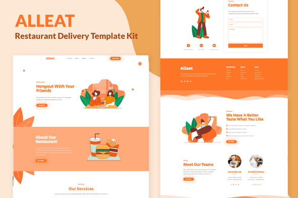 Alleat - Restaurant Elementor Template Kit
