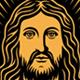 Jesus Christ Vector Illustration on Black - GraphicRiver Item for Sale