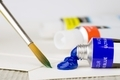 A Tube of Artist's paint and Brush - PhotoDune Item for Sale