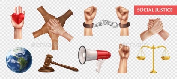 Social Justice Transparent Set