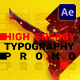 Energy Typography Promo - VideoHive Item for Sale