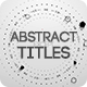 Abstract Titles - VideoHive Item for Sale
