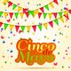 Cinco De Mayo Lettering Celebration - GraphicRiver Item for Sale
