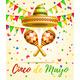 Cinco De Mayo Lettering Celebration Vector - GraphicRiver Item for Sale