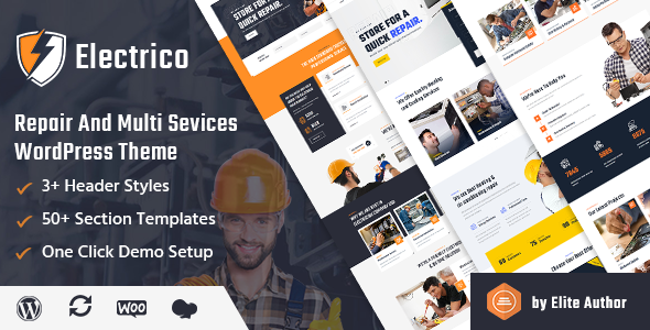 Electrico – Repair and Multi Services WordPress Theme, Gobase64
