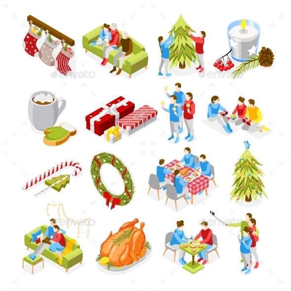 Christmas Mood Isometric Icons
