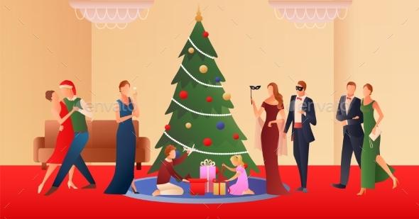 Christmas Flat Gradient Background
