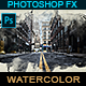 Landscape Watercolor - Photoshop Effect - GraphicRiver Item for Sale