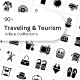 Traveling and Tourism Glyph Icons - GraphicRiver Item for Sale