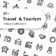 Traveling and Tourism Outline Icons - GraphicRiver Item for Sale
