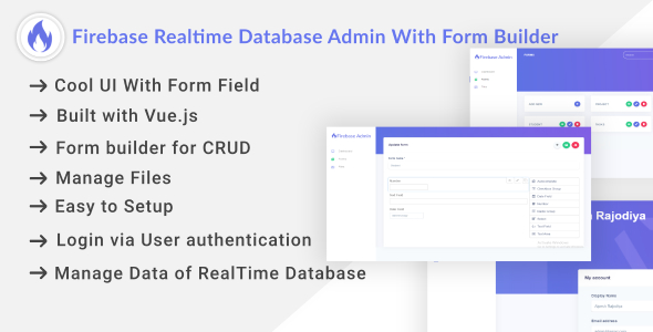 Firebase Realtime Database Admin With Form Builder - Vue.js